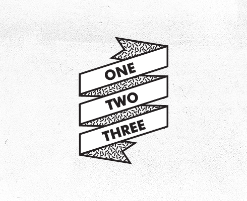one two three graphic