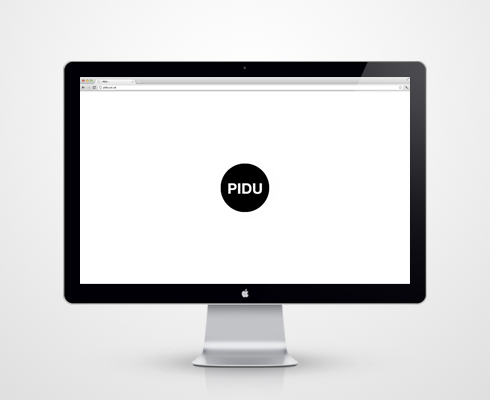 Pidu branding and landing page